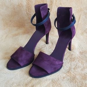 Vince Adley purple suede heels 8.5